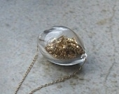 Gold and Glass Gold Filled Trinket Necklace