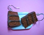 Chocolate Frosted Layer Cake Earrings