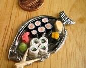 Dollhouse Miniature- Sushi Platter