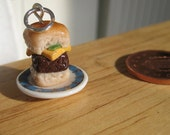 Food Jewelry Cheeseburger Charm