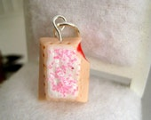 Food Jewelry Strawberry Pop Tart Charm