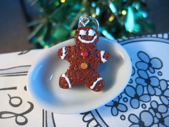 Food Jewelry Holiday Gingerbread Man Charm