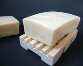 Olive Oil Soap with Shea Butter & Sweet Almond Oil - Unscented - All Natural and Organic - Handmade