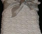 pure White Cotton Baby Blanket Christening Gift  Baby shower gift Hand crocheted McLeodhandcraftgifts