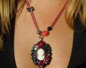 Pretty Lady Cameo Necklace - Gothic Victorian Rose