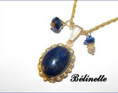 Lapis Lazuli Blue and gold necklace
