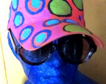 Funky Hand Painted sun Visor
