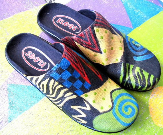 Hand Painted Vegan Clogs New in sizes  7 8 9 10 11