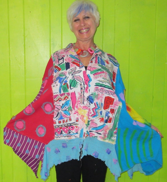 How would you like a big Hawaiin Punch Funky over sized upcycled tunic