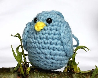 Light Blue Bird Amigurumi