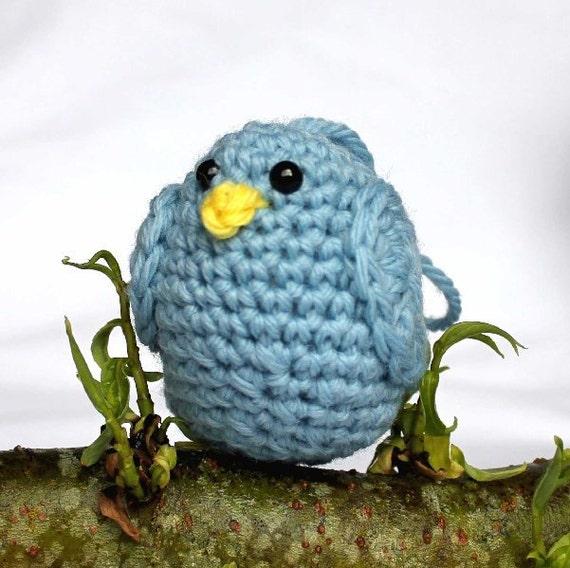 Light Blue Bird Amigurumi