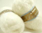 2 balls Patons Divine white fluffy mohair yarn