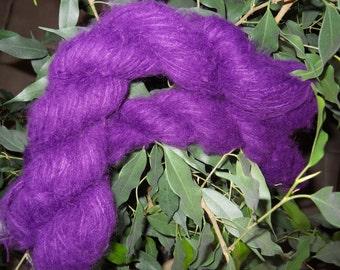 Yarn--Angora and Mohair--Deep Purple and Luxurious--DESTASH