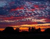 Burning Sky Sunset - Fine Art Print (5x7)