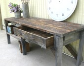 RESERVED for Mark vintage primitive workbench or garden potting bench rugged beauty and practical
