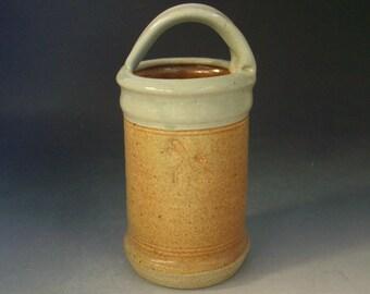 Hand thrown stoneware vase