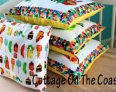 Junk Food Set...Very Hungry Caterpillar Pillow Set (Set of 4) --Made to Order--