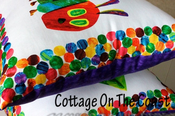 Purple Playroom Pillows...Caterpillar, Leaf, and Butterfly Pillow Set (Set of 3) --Made to Order--