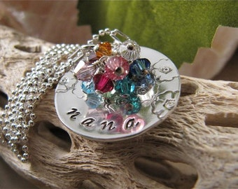 Mom's/Grandmother's Necklace with 9 Birthstones