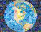 Limited edition print, giclee, Fragile Planet, 11 x 11