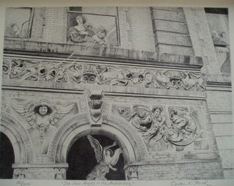 Limited edition print, building facade, She Saw Angels in the Architecture