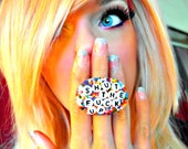 Shut The F-ck Up - Rainbow Sprinkle - Knuckle Duster - Ring