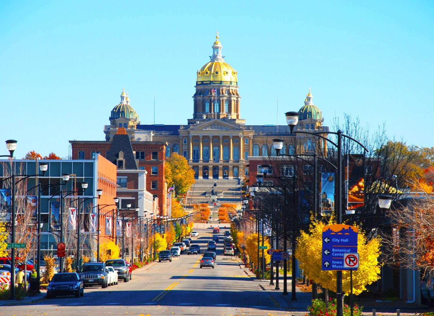 East Village Iowa State Capitol Fall Des Moines 8 X By