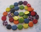 Quirky Rainbow Coloured Kazuri Bead Necklace