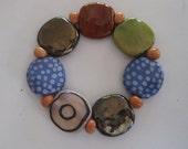 Beaded Bracelet, Fair Trade, Ceramic Jewelry, Kazuri Beads