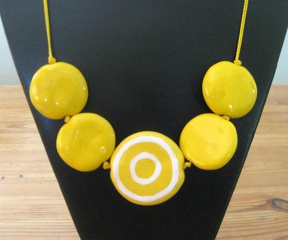 Beaded Necklace, Statement Necklace, Kazuri Bead Necklace, Fair Trade