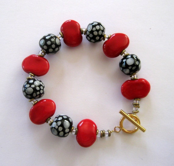 Beaded Bracelet, Kazuri Bangle, Fair Trade, Ceramic Jewelry