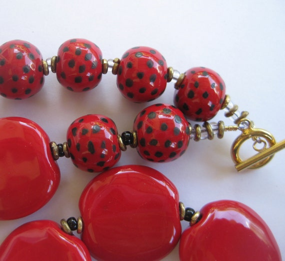 Kazuri Bead Necklace RESERVED FOR FRANCOISE