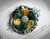 Laura Lou... Blossoming Fabric Flower Hair Clip