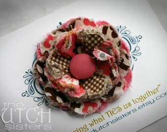 Indian Summer... Blossoming Fabric Flower  Hair Clip
