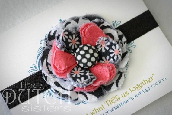 It's a Girl Thing... Blossoming Fabric Flower  Headband