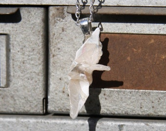 Origami Crane Necklace - White