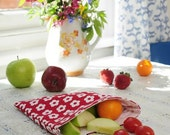 Scandi snackbag red and white flower