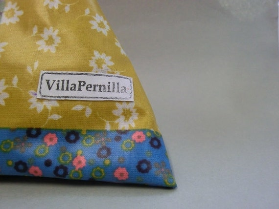 Wash bag for kids and light travelling- patchwork oilcloth fabric