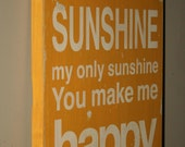 You Are My Sunshine Typography Word Art Sign