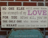 Strength of My Love Word Art Sign - The Perfect Sign for a Baby Girl's Nursery