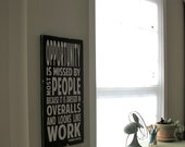Opportunity Wooden Sign - a Thomas Edison Quote - Distressed Sign in Black with White Vintage Style Large