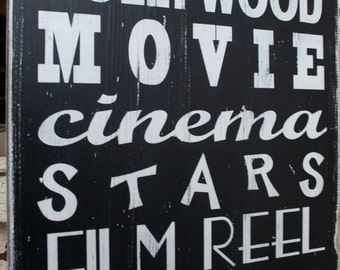 Movie Subway Art - Typography Word Art Perfect for your home theatre - Oscars
