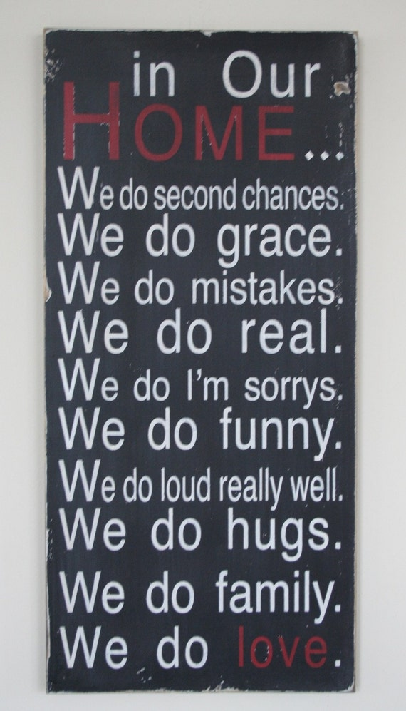 Reserved In Our Home Whimsical Family Rules Sign