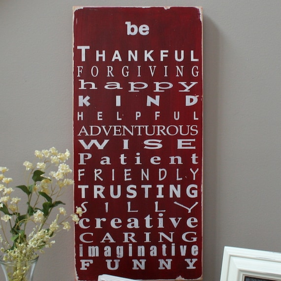 Family Rules Sign -  Wooden Sign - Typography Word Art