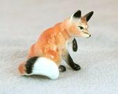 Vintage Fox Figurine in Bone China