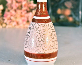 Small Vintage Kutani Beaded Vase