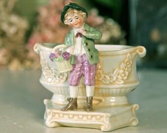 Antique German Doll Vase - male figure 1850s