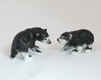 Vintage Bear Figurines - Ceramic - Woodland Animals