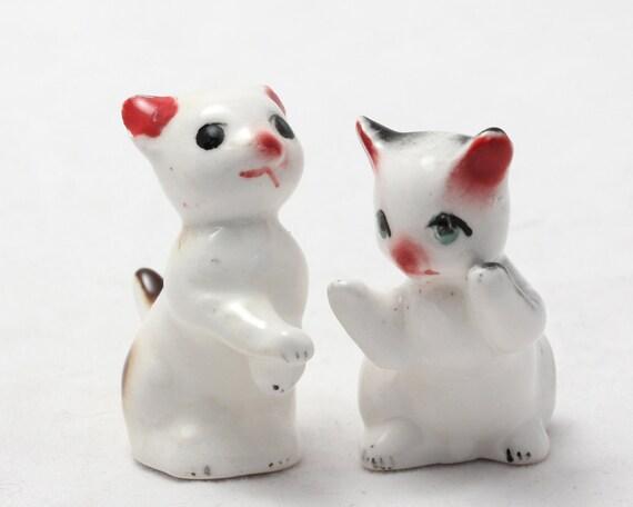 Playful Kitty Figurines - Ceramic Cats