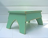 Handcrafted Vintage Style Step Stool No. 2 in Jadite